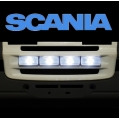 Front fog light set with led  for tamiya Scania R470 R620