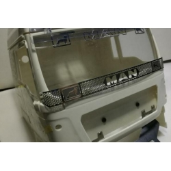 Wtbcar metal front grille #3 for 1/14 tamiya MAN Semi trailer TGX