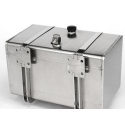 1/14 welding sealed steel Metal 108mm fuel tank for tamiya truck man scania hydraulic use*****