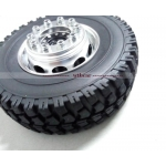Wtbcar metal front wheel w/ rubber tyre for 1/14 tamiya SCANIA Actros Man 3363 Arocs