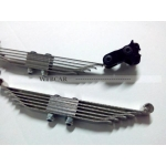 1/14 Rc parts for Tamiya truck heavy thick extra HARD leaf spring steel FRONT spring w/ mount