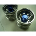 1/14 RC car option CNC BLUE metal Rear wheels for one axle HEX  cap  **