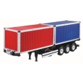 1/14 Scale 40ft container trailer plus 2 x 20ft container for Tamiya Tractor Truck