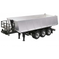 Metal Dump Truck 3-Axle semi Trailer for 1/14 scania man benz actros etc