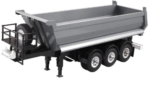 Dump Truck 3 Axle Semi Trailer All Metal For 1 14