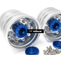 1/14 rc car truck a pair REAR wheel for Tamiya Man r470 TGX FH12 ..etc*