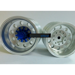 1/14 rc car truck parts Real Coated Rear wheel with blue hub ( a pair )**