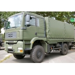 1/14 Man TGA construction truck military green painted body set  fit tamiya chassis