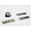 1/14 rc car MAN track option logo plate set scania r470 r620  for tamiya