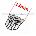 13mm width transformers logo metal decal for 1/10 1/14 RC car