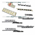 Complete set metal decal for RC4WD or Tamiya 1/10 Gelande II Cruiser / FJ40 RC car