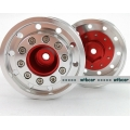 1/14 CNC metal alloy RED REAR wheel for tamiya 1/14 trailer