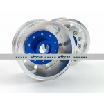 1/14 CNC metal alloy BLUE FRONT wheel for tamiya 1/14 scania man benz **