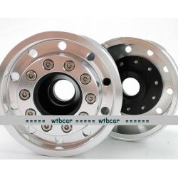 1/14 CNC metal alloy BLACK FRONT wheel for tamiya 1/14 scania man benz *