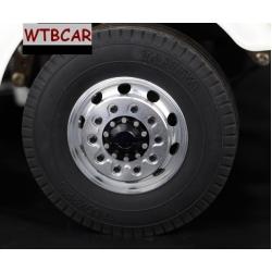 1 pair (black )  front wheel for Tamiya 1/14 truck scania MAN R470 R620 Actros