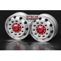 1 pair ( red )  front wheel for Tamiya 1/14 truck scania MAN R470 R620 Actros *