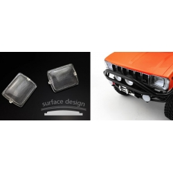 option parts transparent front light lamp for china 1/10 TF2 RC car