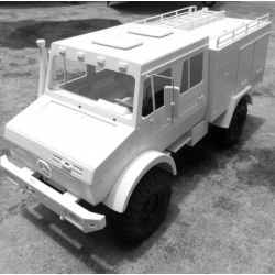 1/10.5  UniMog U5000 truck FIRE engine ver. RC car body and parts fit SCX10 etc