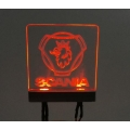 Led decoration transparent logo light effect for tamiya 1/14 scania