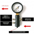 1/14 WTBcar hydraulic presser valve control use  with pressure meter