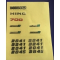 1/14 decal sticker for Hino 700 #2
