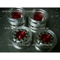 1/14 rc car truck Aluminum 7075 FRONT wheels SET  w/o tire for Tamiya actros 1851 RED