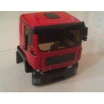 1/14 Man TGA construction truck RED painted body set  fit tamiya chassis *