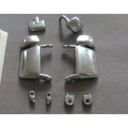 steel metal polished version side Mirror set for tamiya 1/14 scania