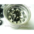 1/14 RC car option CNC BLACK metal Rear wheels for one axle *