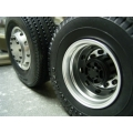 1/14 rc car truck Aluminum 7075 FRONT wheels SET  w/ tire for Tamiya Man scania R470