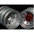 1/14 rc car truck parts Real Coated Rear wheel with red hub ( a pair )