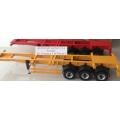 1/14 CNC Metal  rc car truck trailer ( 40ft yellow )  for tamiya man scania r620 **