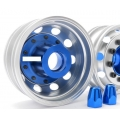 1/14 rc car truck 1 pair CNC wheel front BLUE wheel for Tamiya Actros