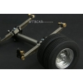 1/14 metal axle , wheels with rubber tyre SET for 1/14 truck Trailer