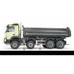 1/14 all metal truck urea tank set with tool box for Volvo FMX tamiya