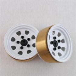 """1/10 RC car D90 D110 D130 1.9"""" Metal wheels 2 pairs a set *"""