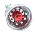 1/14 RC car option CNC RED metal Rear wheels for one axle
