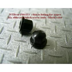 1/14 rc car truck parts metal wheel nut for Tamiya Man scania TGX R470 R620 black